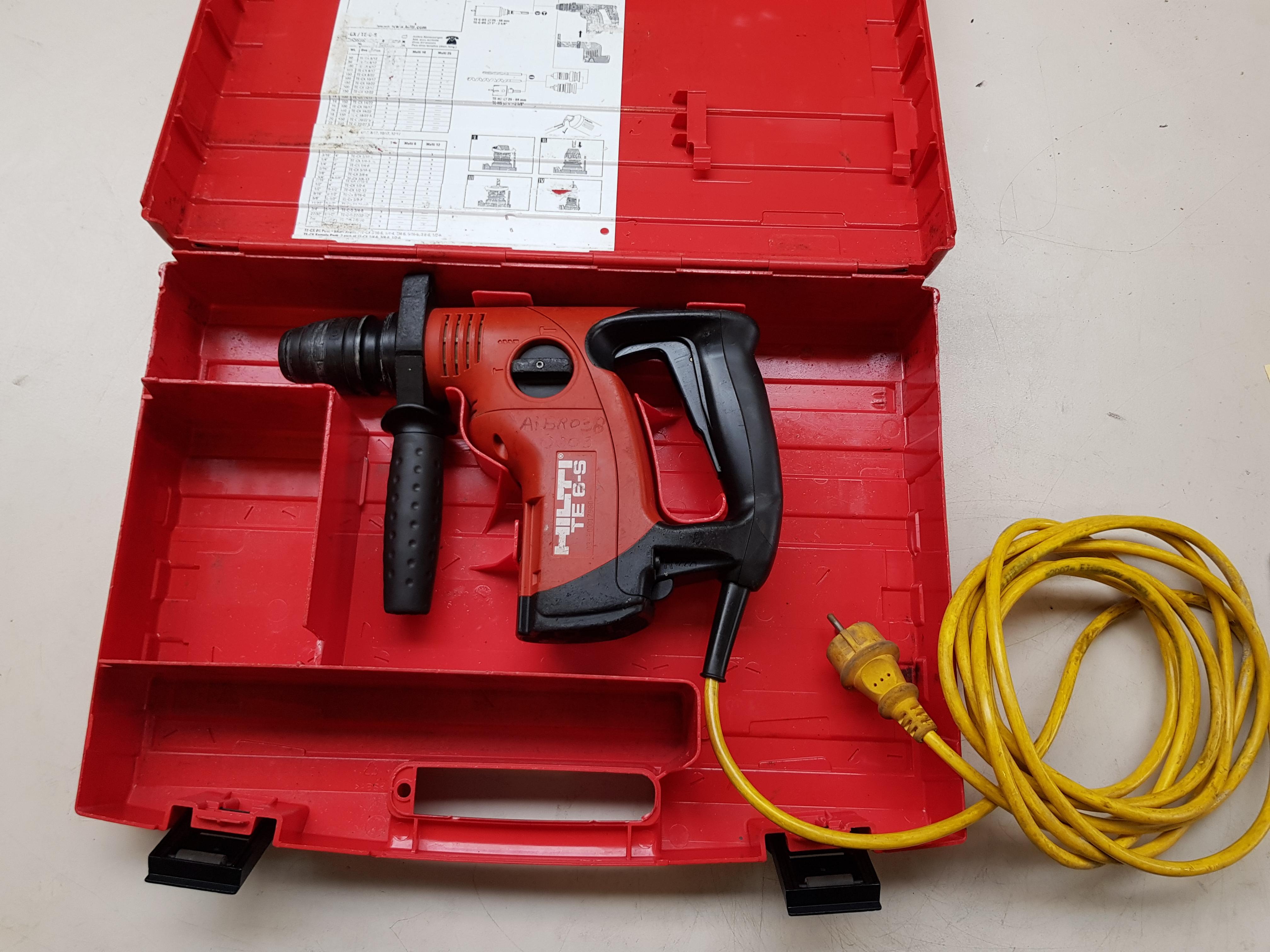 hilti te6s bohrhammer inkl. koffer - industrie-restposten-kurz